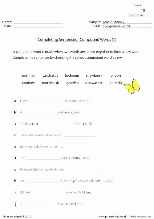 Complete Sentences Worksheet 4th Grade Related Post Simple and Pound Sentences Grade Worksheets