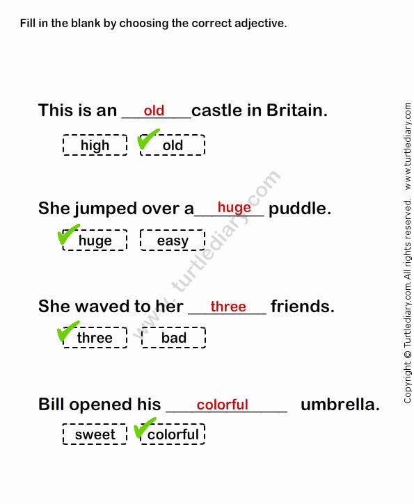 Complete Sentences Worksheets 1st Grade Describing Words Worksheet30 Esl Efl Worksheets Grade 1