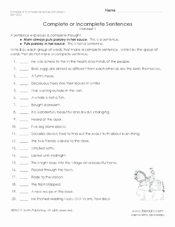 Complete Sentences Worksheets 1st Grade Number Sentence Worksheets 2nd Grade – butterbeebetty