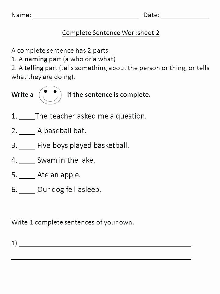 writing plete sentences worksheets run on sentence worksheet number sentence worksheets 4th grade sentence correction worksheets 4th grade name plete sentence worksheet 1 a has 2 parts or fragme