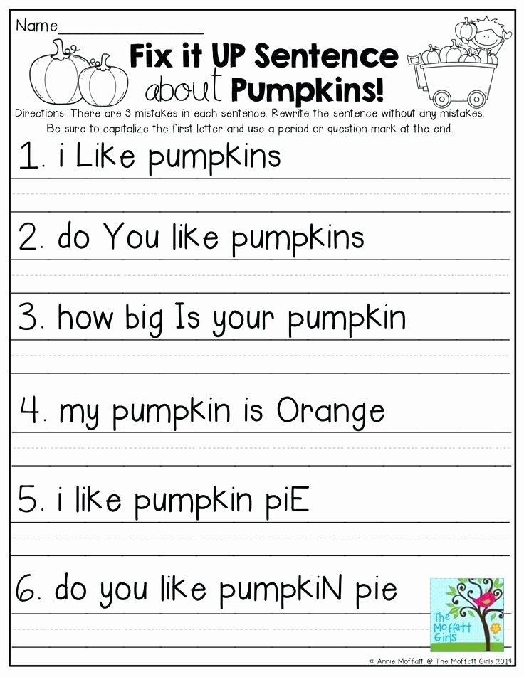 Complete Sentences Worksheets 1st Grade Second Grade Sentence Worksheets First Grade Grade 1