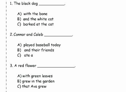 Complete Sentences Worksheets 1st Grade Sentence Types Simple Pound Plex Sentence Types Simple