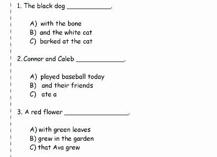 Complete Sentences Worksheets 1st Grade Sentence Types Simple Pound Plex Sentence Types Simple