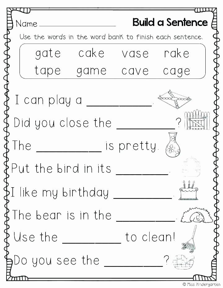 Complete Sentences Worksheets 2nd Grade Pound Words In Sentences Worksheets – Odmartlifestyle