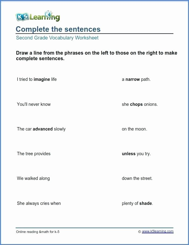 Complete Sentences Worksheets 4th Grade Second Grade Sentences Math – Findethub