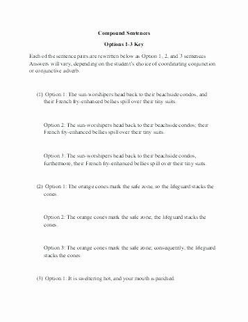 Complex Sentence Worksheets 3rd Grade Pound Sentences Vs Plex Sentence Worksheets Simple and
