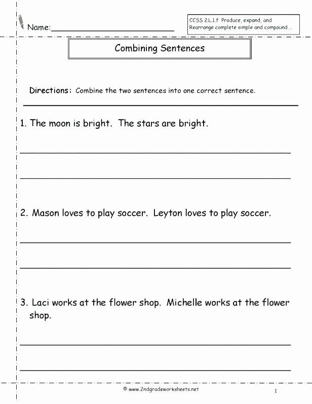 Complex Sentence Worksheets 3rd Grade Sentence Pletion Worksheets 3rd Grade