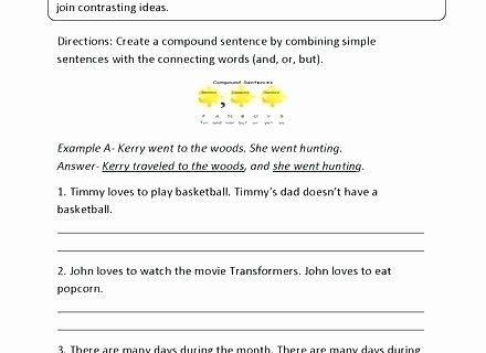 Complex Sentence Worksheets 3rd Grade Simple Pound Plex Sentences Quiz Sentence