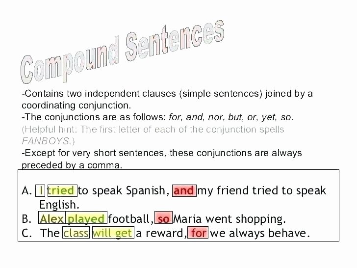 Complex Sentences Worksheets with Answers Pound Words In A Sentence Worksheets – Onlineoutlet