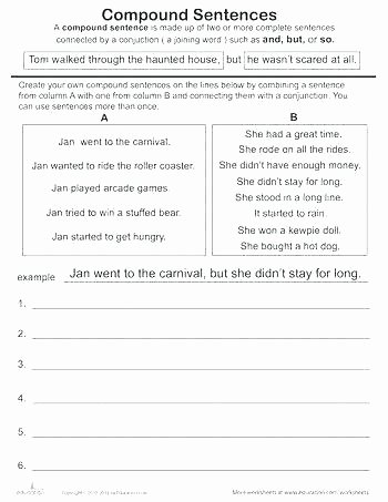 Complex Sentences Worksheets with Answers Sentence Types Simple Pound Plex Sentence Types Simple