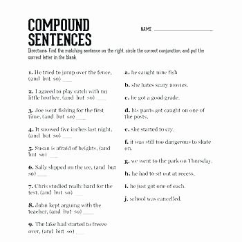Complex Sentences Worksheets with Answers Simple Sentences to Pound Sentences Worksheets Pound