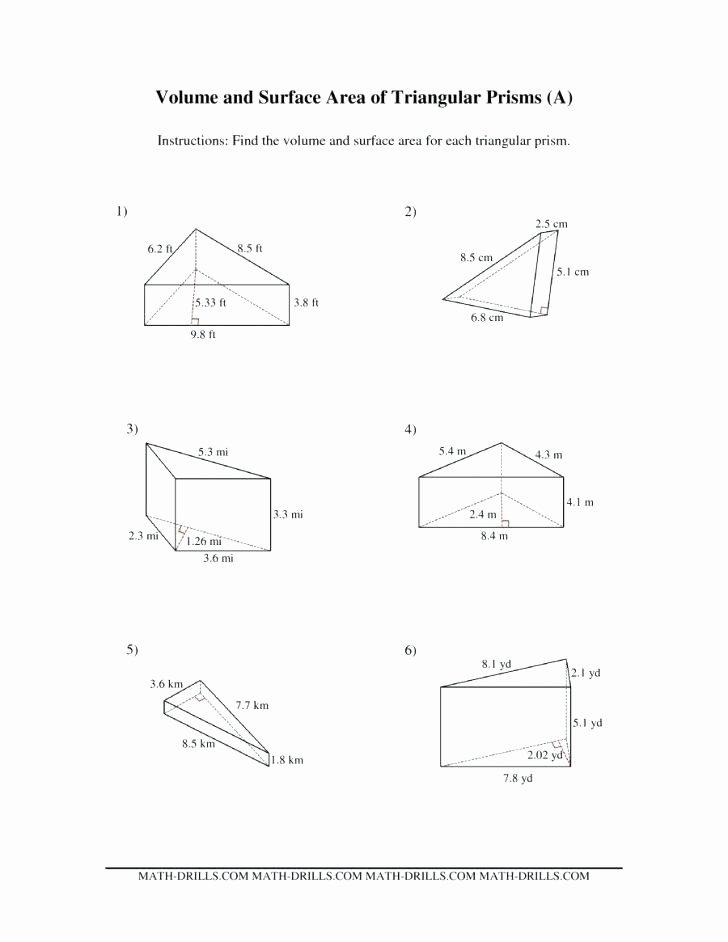 Compound area Worksheets 6th Grade Math Volume Worksheets