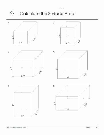7th grade geometry surface area worksheets grade rectangular prisms and surface area use the area formula to calculate