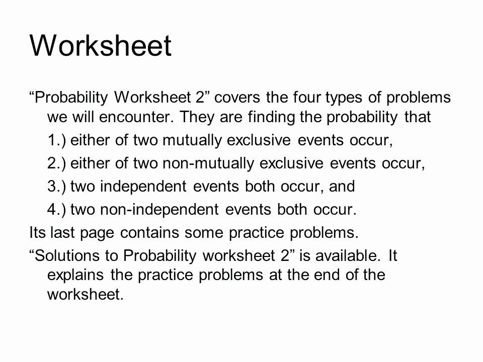 Compound Probability Worksheet Answers Probability Practice Worksheet – Eurotekinc