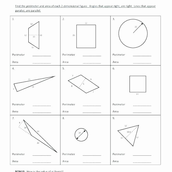 Compound Shapes Worksheet Answer Key area and Perimeter Worksheet Worksheets Third Grade Math