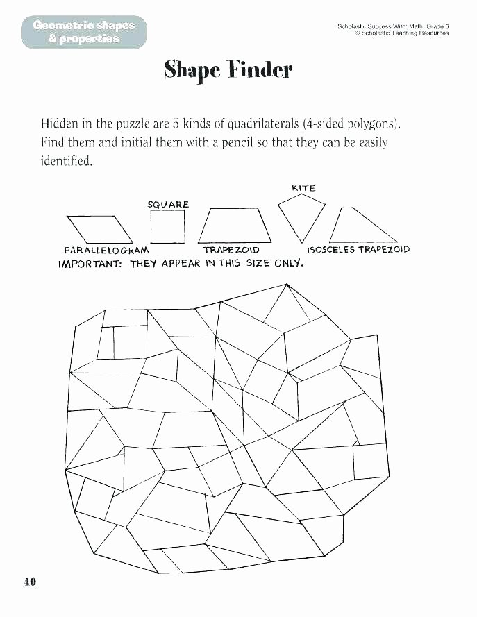 Compound Shapes Worksheet Answer Key Polygons and Quadrilaterals Worksheets – Kcctalmavale