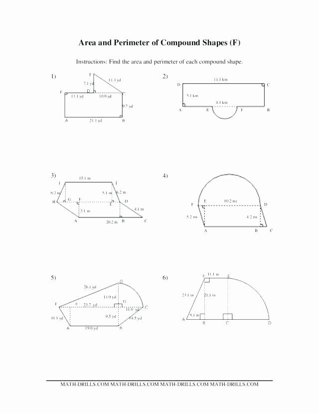 Compound Shapes Worksheet Answer Key Shapes Worksheets Basic Pdf Grade 5 Maths and Math