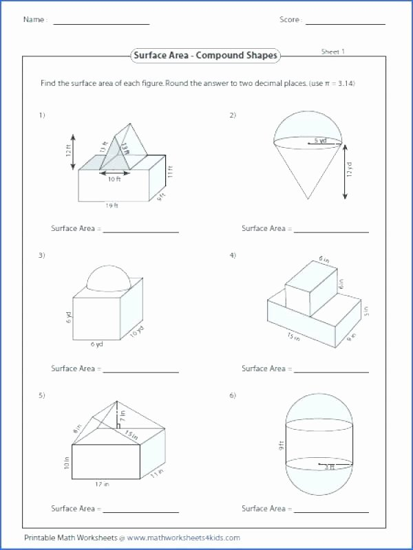 Compound Shapes Worksheet Answers 15 area Of Posite Shapes Worksheet