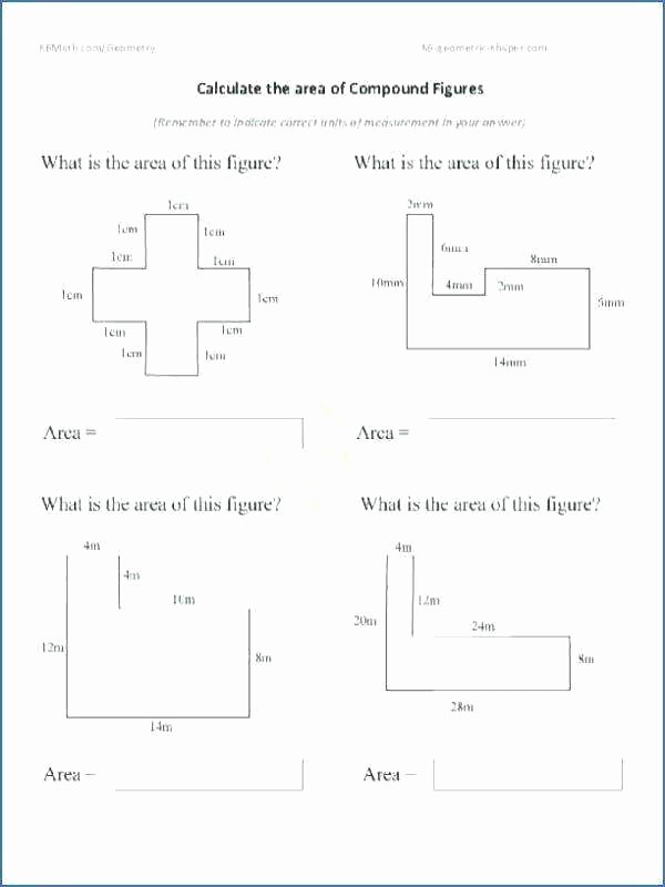 Compound Shapes Worksheet Answers area Irregular Shapes Worksheet Math Worksheets Perimeter and