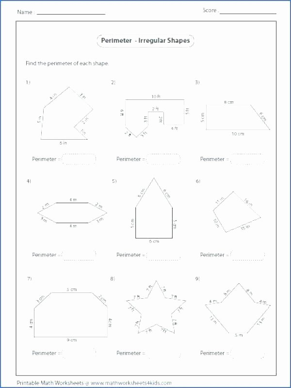 Compound Shapes Worksheet Answers area Polygons Worksheets Free Calculating the Posite