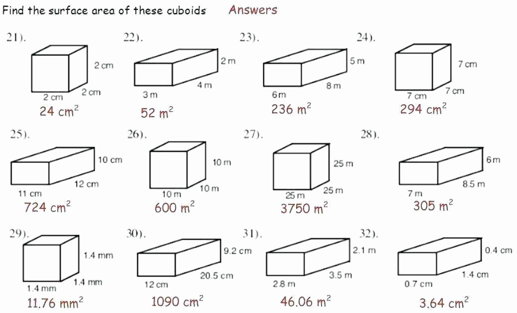 Compound Shapes Worksheet Answers area Worksheets 7th Grade