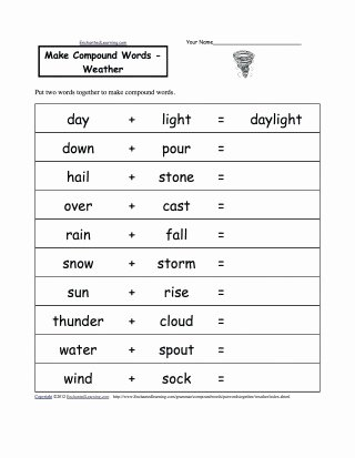 Compound Word Worksheet 2nd Grade 045 Spelling Activities for 2nd Grade Math Worksheets Pound