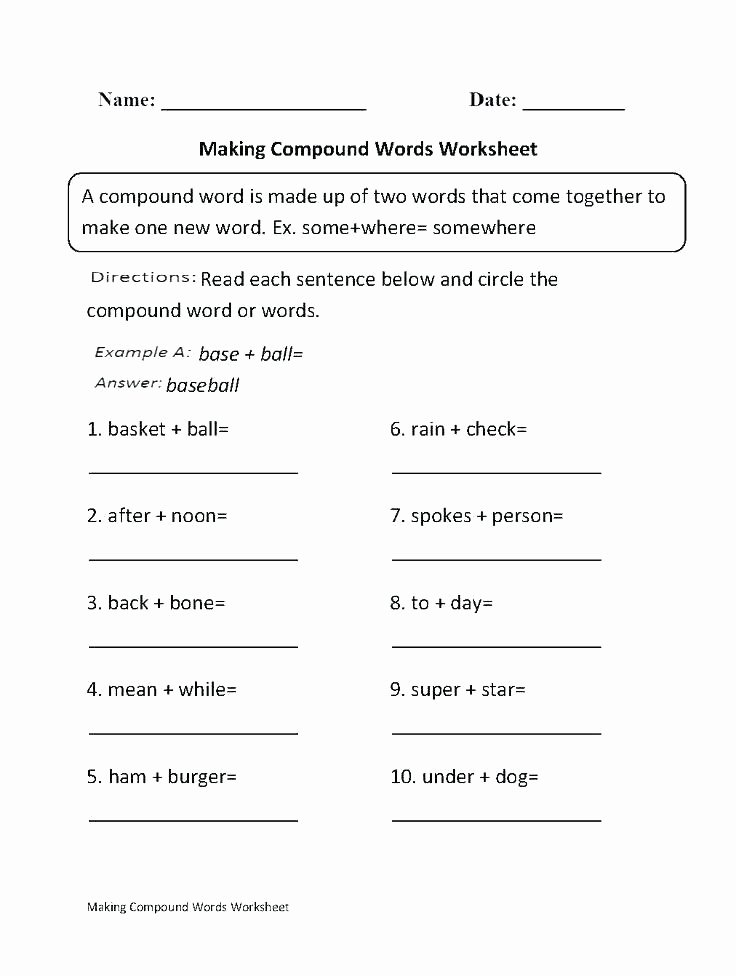 Compound Word Worksheet 2nd Grade Science Fill In the Blank Worksheets Vocabulary Worksheet