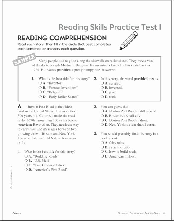 Comprehension Worksheet First Grade Free 4th Grade Reading Prehension Worksheets Elegant Free