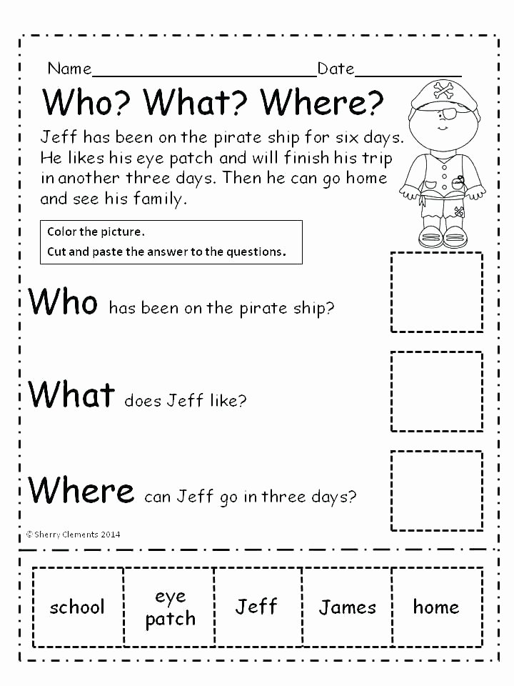 Comprehension Worksheet First Grade Grade Worksheet 1st Grade Summarizing Worksheets 1st Grade