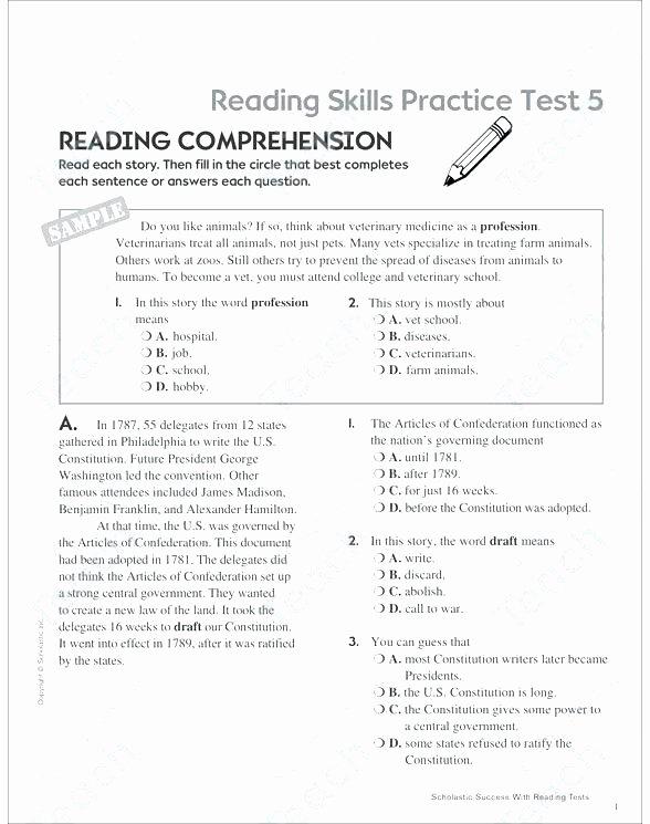 Comprehension Worksheets 6th Grade 4 Grade Reading Prehension Worksheets Grade Reading