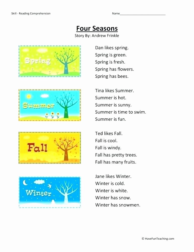 Comprehension Worksheets for First Grade 1st Grade Reading and Prehension Worksheets
