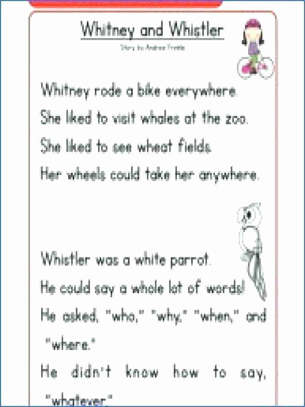Comprehension Worksheets for First Grade Free First Grade Phonics Rhyming Reading Worksheets for 1