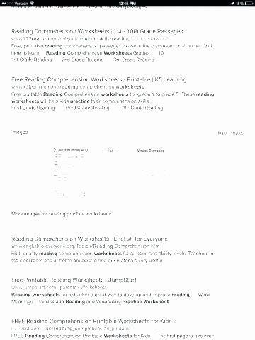 Comprehension Worksheets for First Grade Free Reading Worksheets for 1st Grade