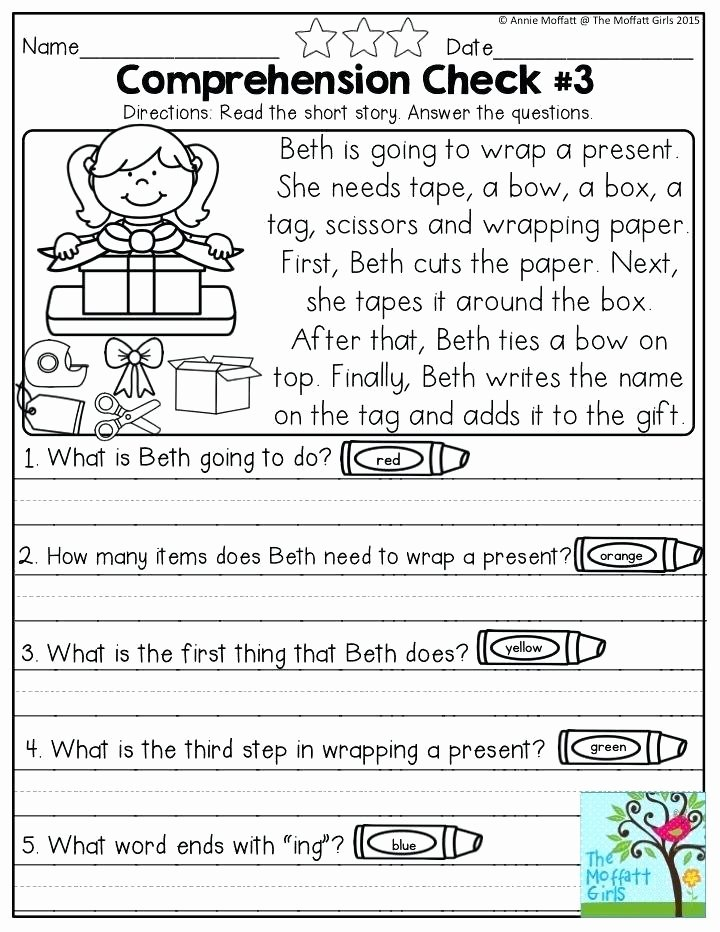 Comprehension Worksheets for First Grade Small Prehension Passages for Grade 4