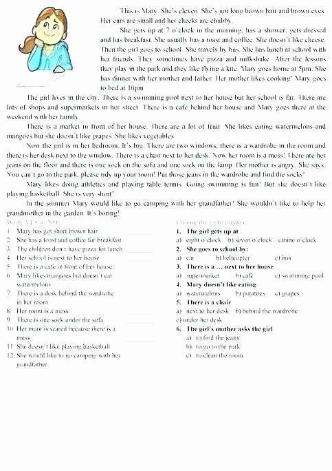Comprehension Worksheets for Grade 6 Free Reading Prehension Worksheets Grade 6 – Onlineoutlet