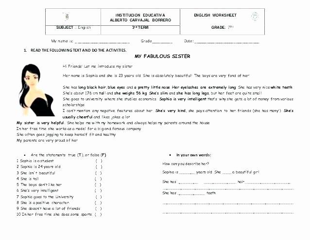 Comprehension Worksheets for Grade 6 Prehension Worksheets Grade 4