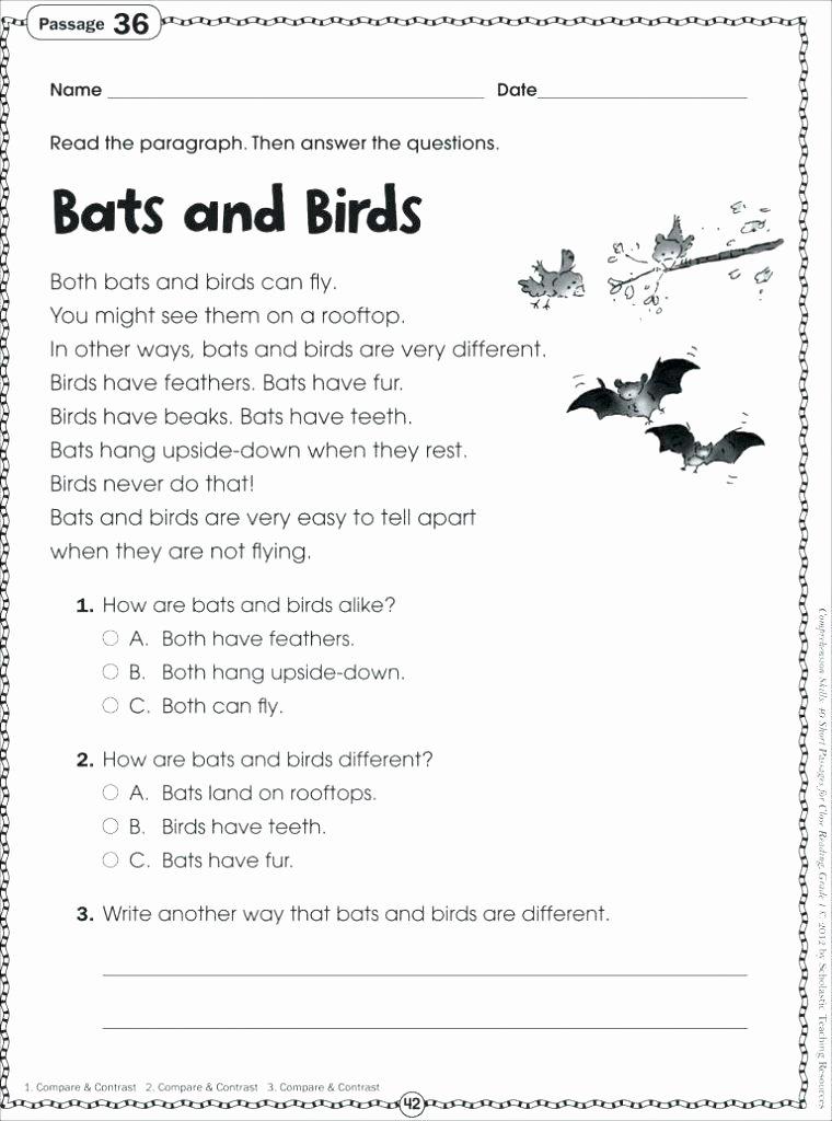 Comprehension Worksheets for Kindergarten Beginning Spanish Reading Prehension Worksheets First