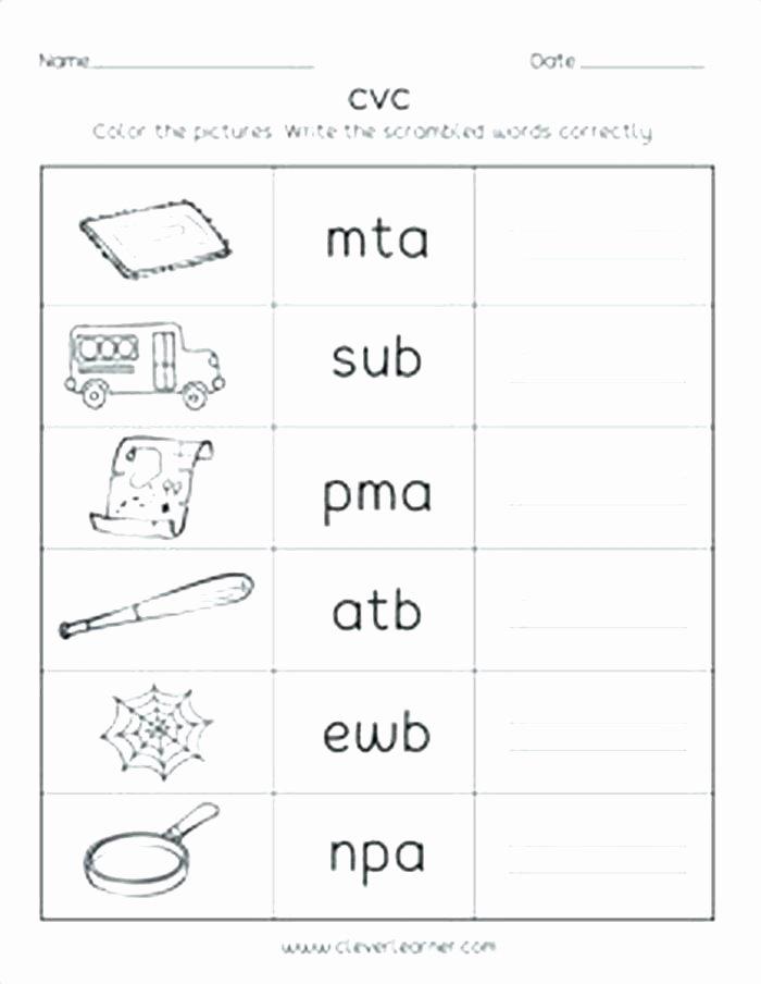 Comprehension Worksheets for Kindergarten Cvc Worksheets for Kindergarten Worksheets Grade for