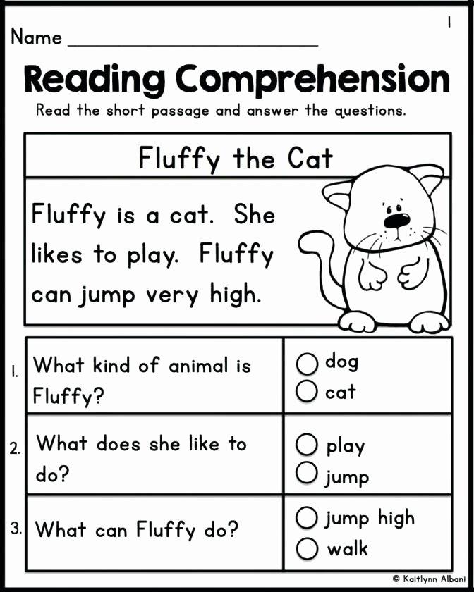 Comprehension Worksheets for Kindergarten Kindergarten Prep Worksheets