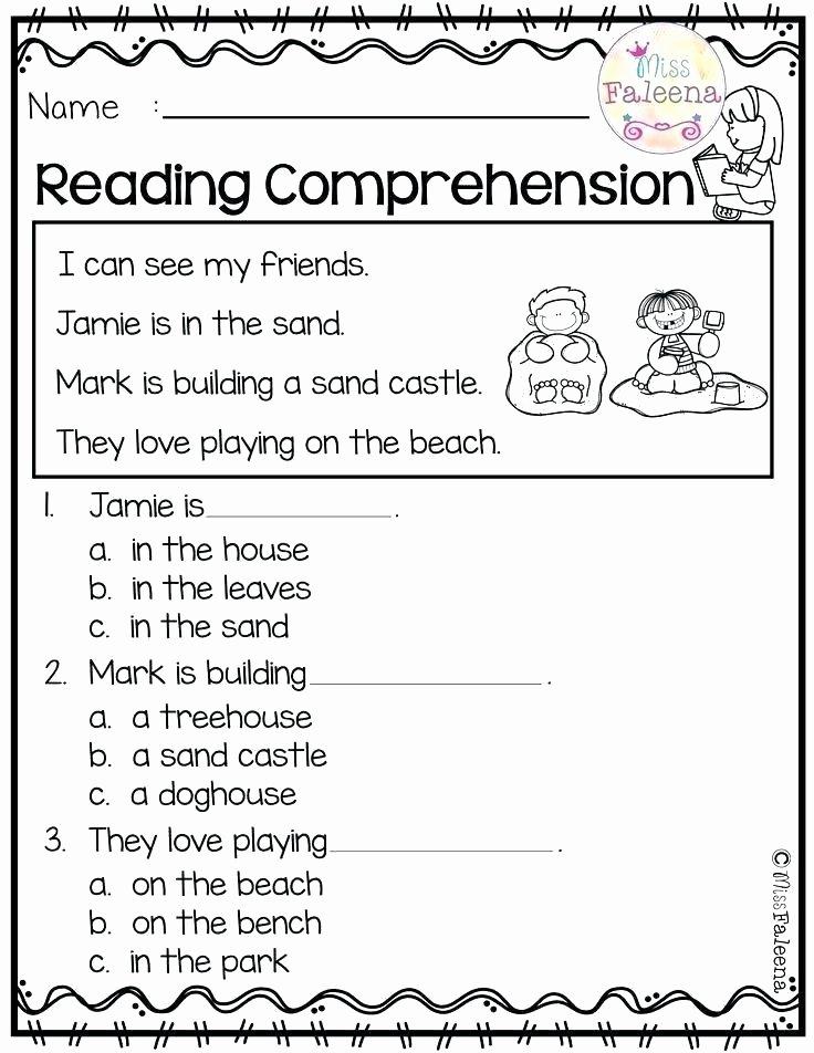 Comprehension Worksheets for Kindergarten Morning Worksheets for Kindergarten