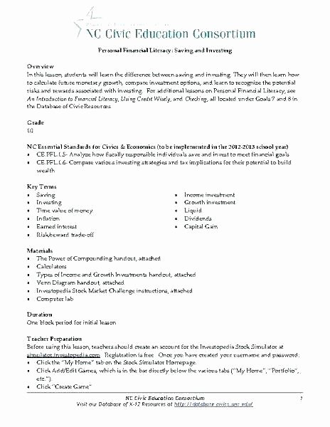 Computer Worksheets for Middle School Civics Worksheets