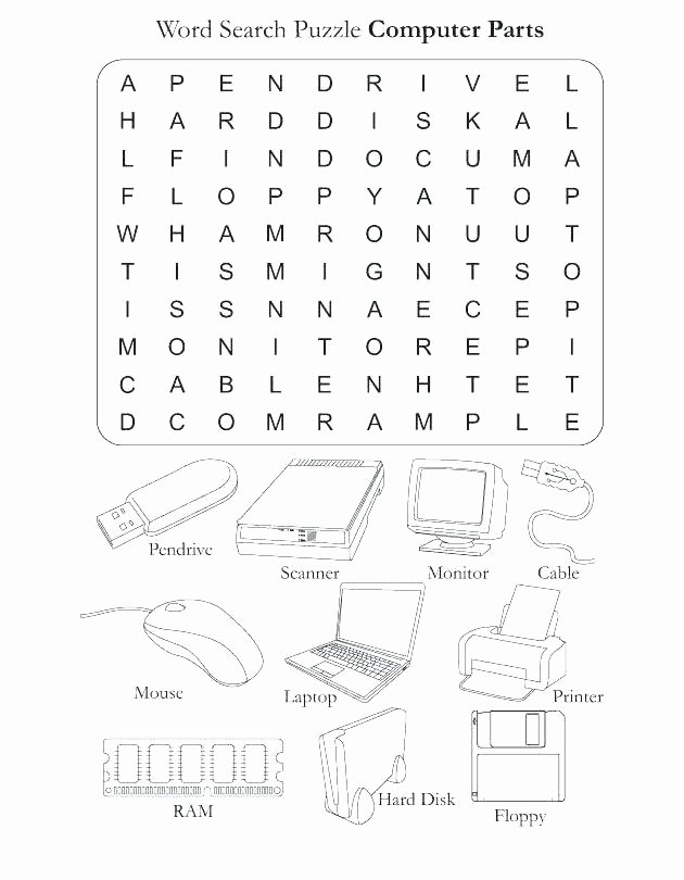 Computer Worksheets for Middle School Free Word Finds Worksheets