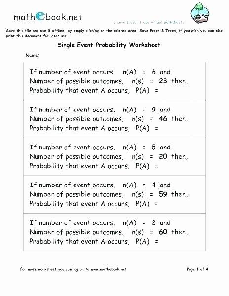 Conditional Probability Worksheet Kuta Basic Probability Worksheet Unique Food Chain Types Archives