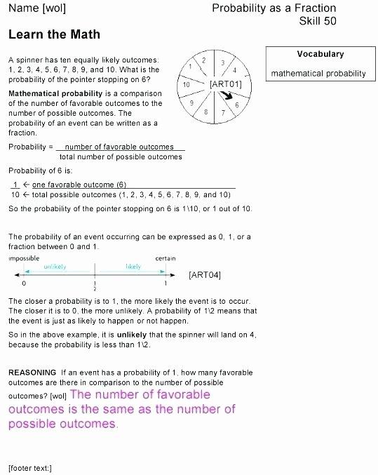 Conditional Probability Worksheet Kuta Basic Probability Worksheets Activities Grade Math Printable