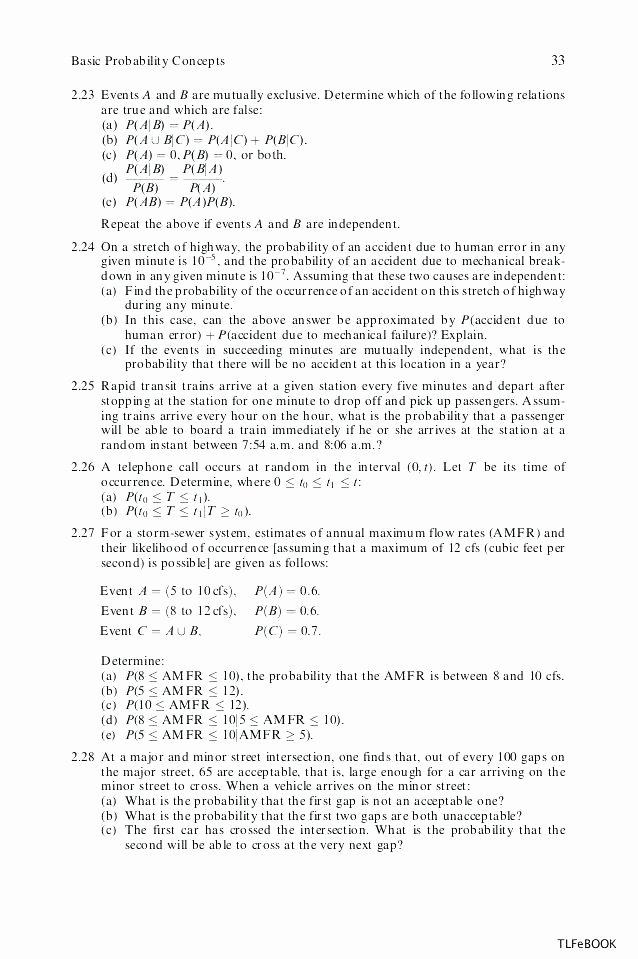 Conditional Probability Worksheet Kuta Probability Worksheets with Answers Basic Worksheet Pdf