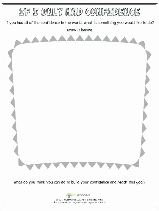 Confidence Building Worksheets Unique Improving Self Esteem Worksheets – Onlineoutlet