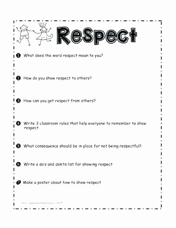 Conflict Practice Worksheets Free Behavior Worksheets
