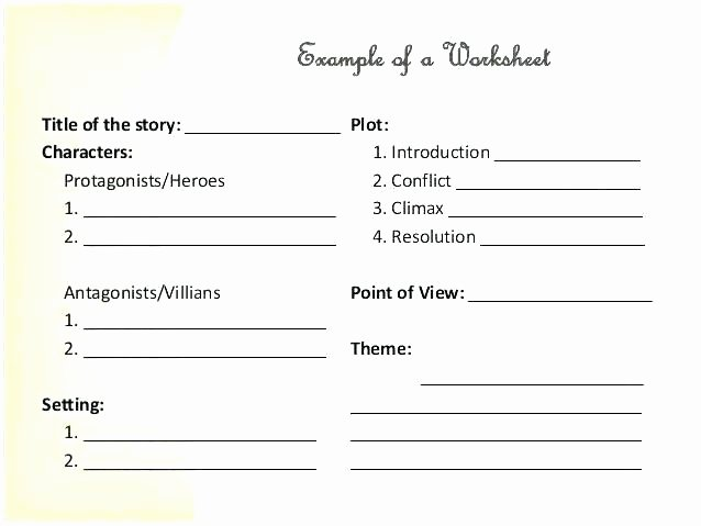 Conflict Practice Worksheets theme Practice Worksheets Identifying In Literature