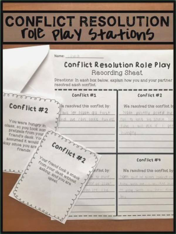 Conflict Resolution Worksheets for Students Conflict Resolution Worksheets