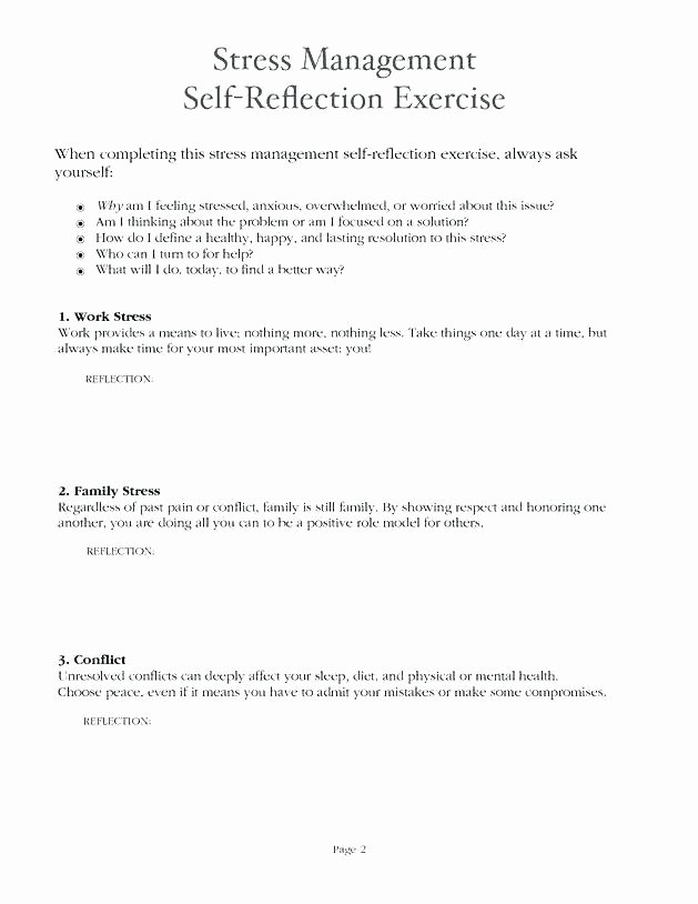 Conflict Resolution Worksheets for Students High School Health Worksheets Kids Stress Reduction